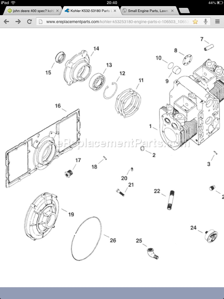 kohler k532 wiring diagram picked up the 400 now where to begin my tractor forum  my tractor forum