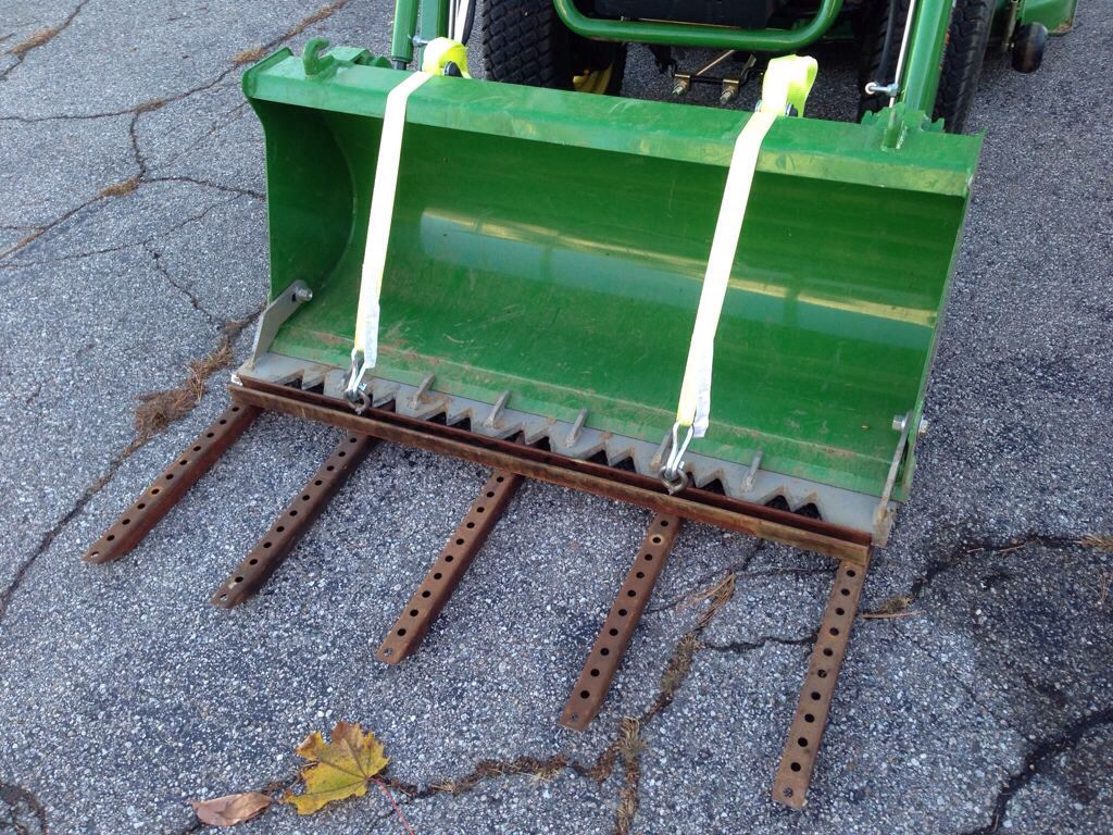 Homemade Tractor Bucket Forks – Sim Home