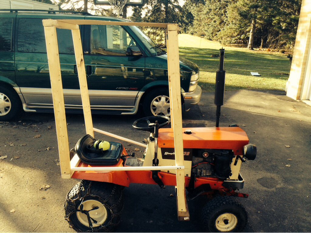 Homemade Garden Tractor Cab Out Of Pvc Page 2