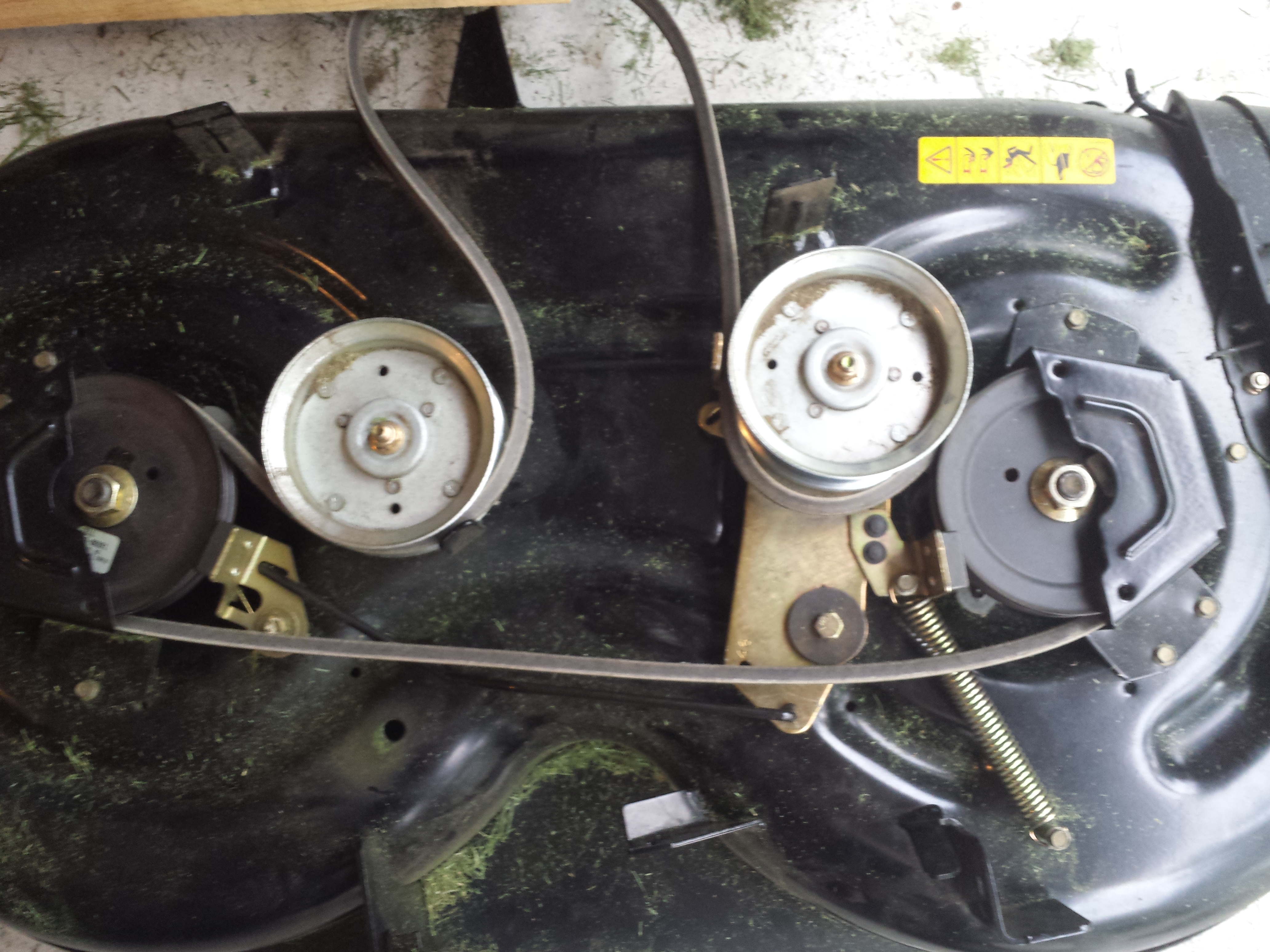 troybuilt pony cutting deck brake adjustment