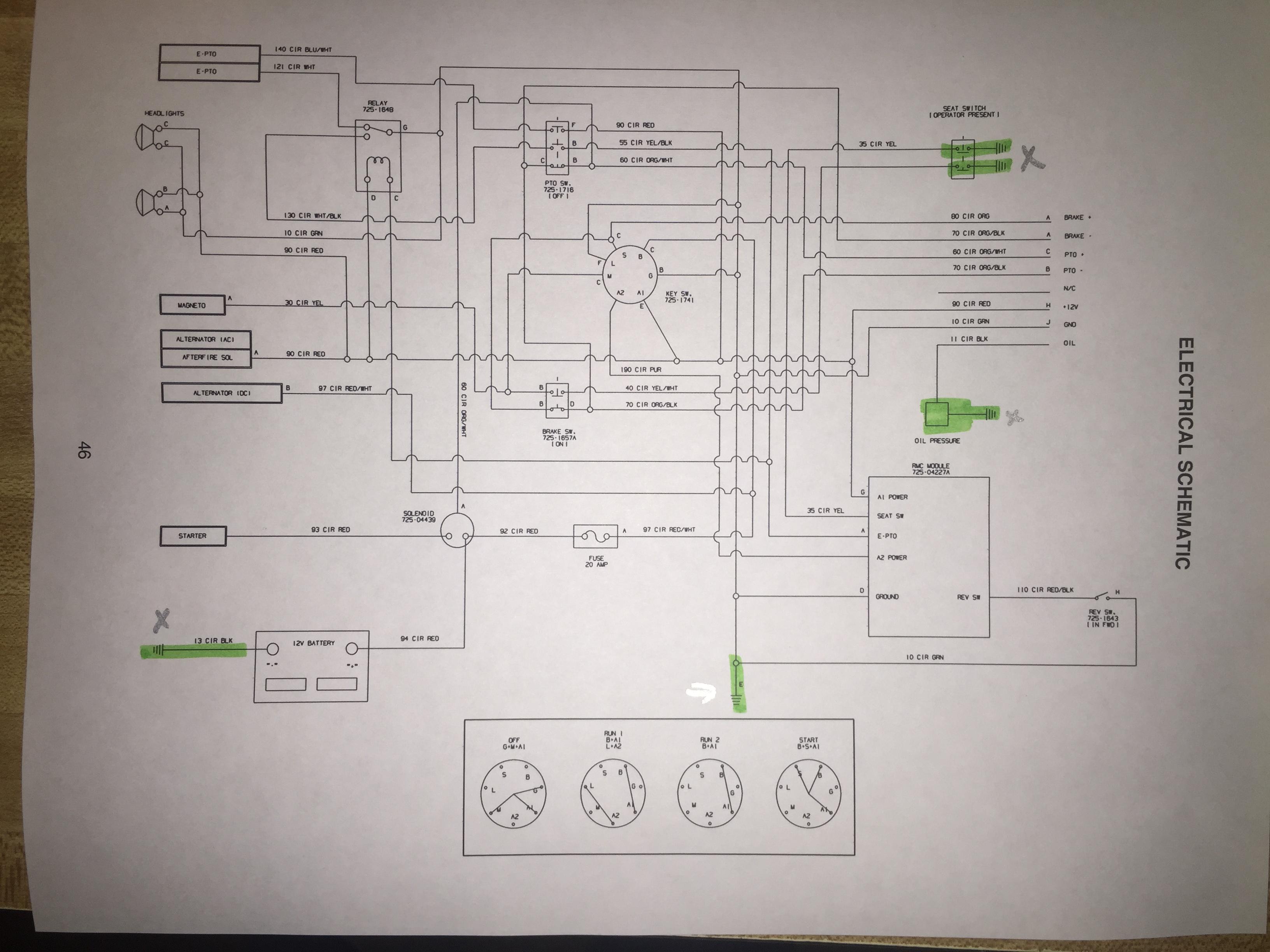 1974 John Deere 140 Wiring Diagram