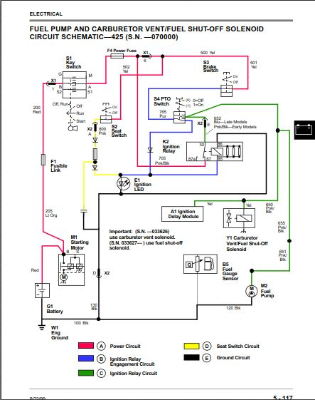 425 No power to fuel pump - MyTractorForum com - The