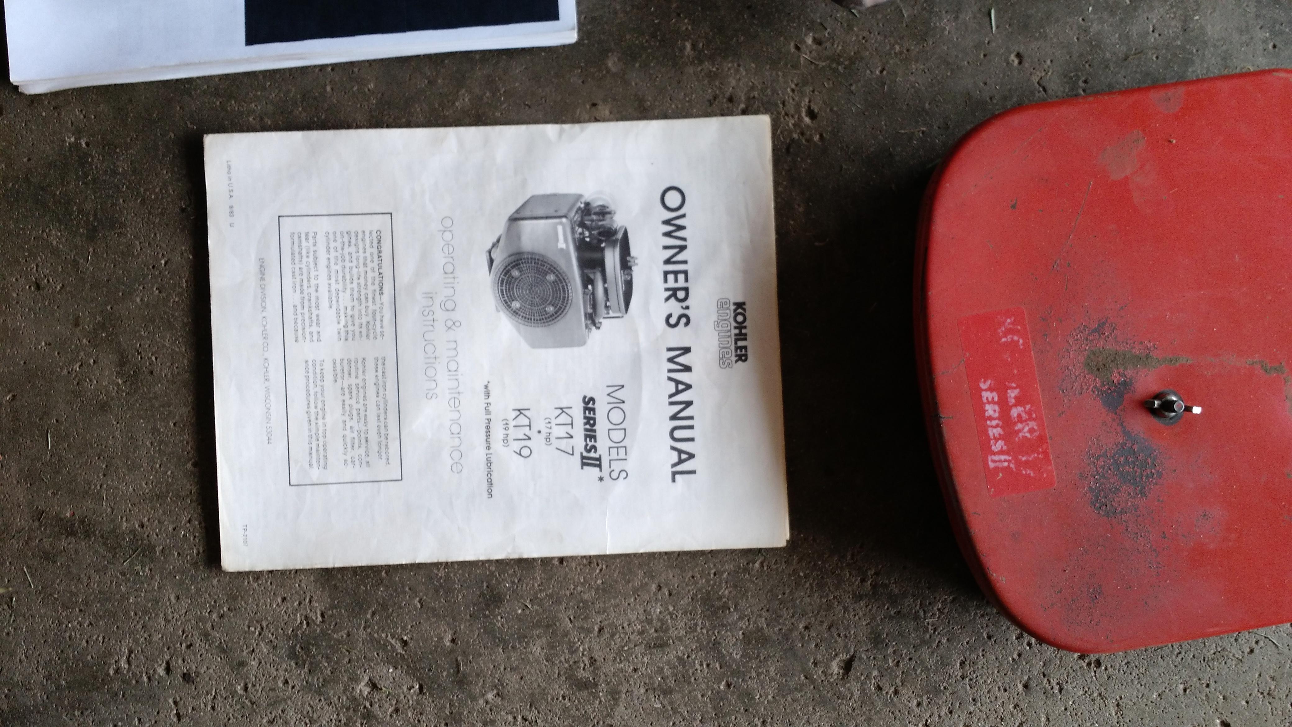 For Sale Kohler KT17 Series II off Gravely 8179G (NW