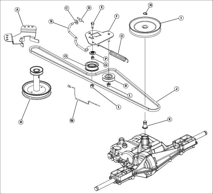 John Deere M144044 Traction Drive Belt Manual Guide