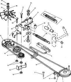 John Deere 445 Lawn Tractor Pto also Lx288 Belt Diagram furthermore John Deere L100 Riding Mower Lawn Garden Tractor besides John Deere L110 Deck Belt Diagram 228970 besides John Deere Sabre Mower Tractor. on john deere l100 mower deck parts diagram