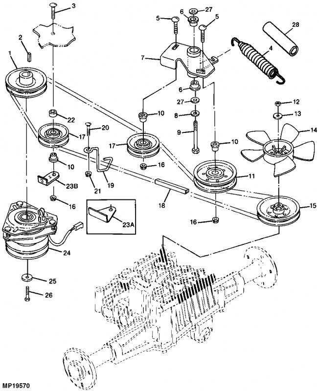 John Deere 345 Drive Belt Diagram