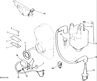 P218G (318) Electronic Ignition Module location ... on