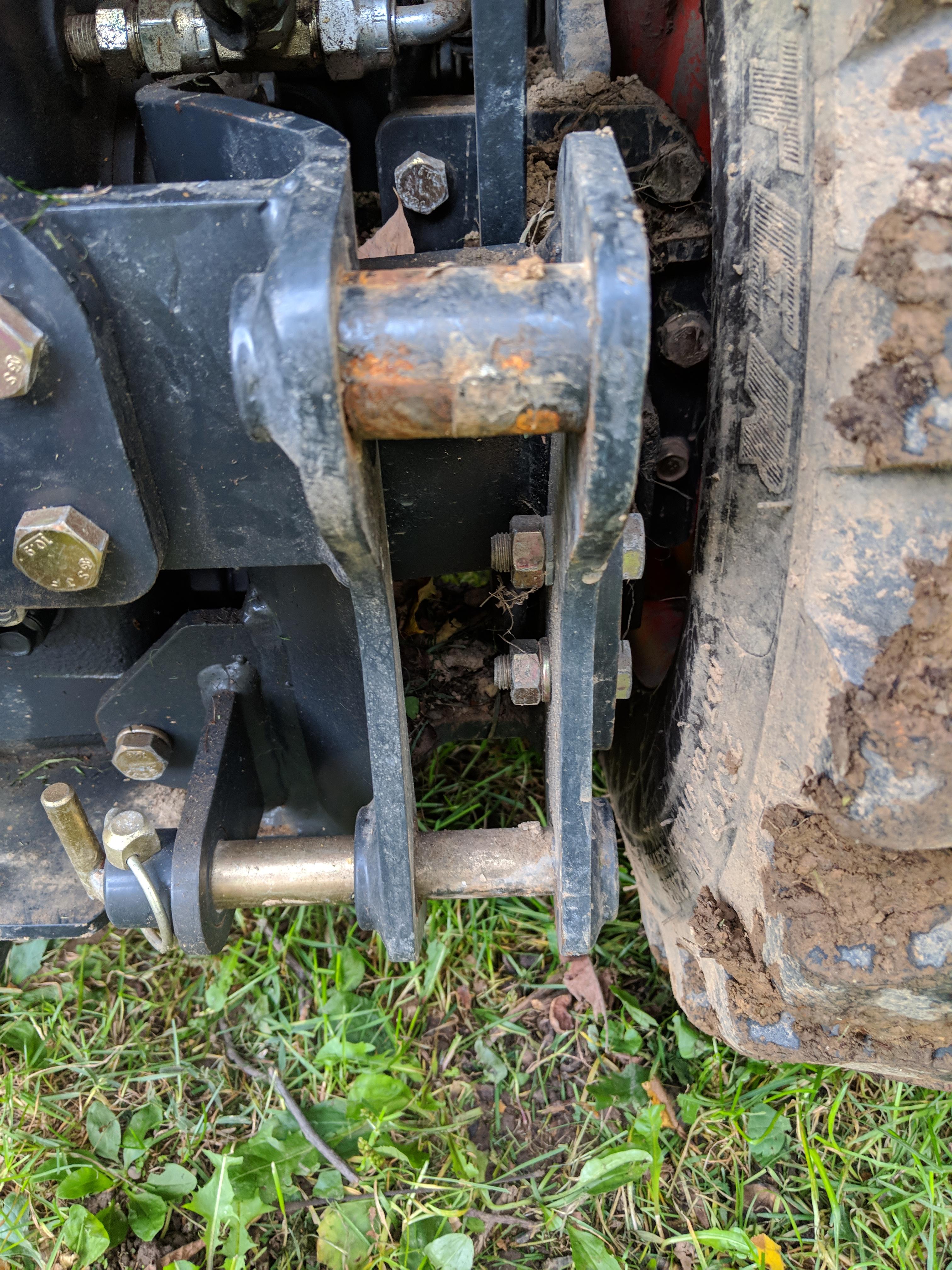 "Set of 2 Kioti CS2510 CS2210 Tractor Rear Wheel 1/"" Spacers with Bolts CS2410"