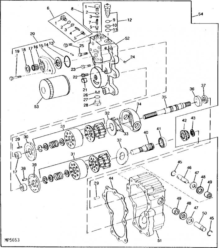 John Deere 300 and 400 Series Transmission Input Seal