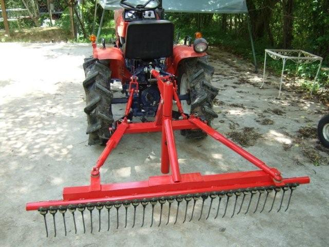 Pull Behind Rake For Lawn Tractor : Landscape rake for lawn mower homemade tractor