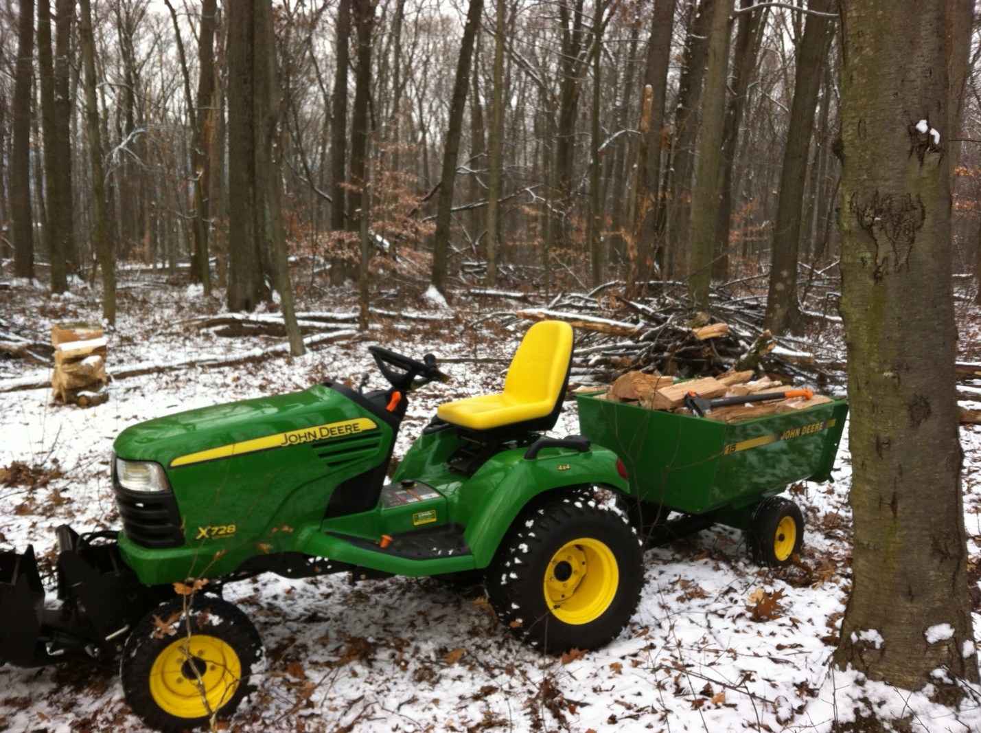 Anyone use a garden tractor as a firewood tool? - MyTractorForum.com ...