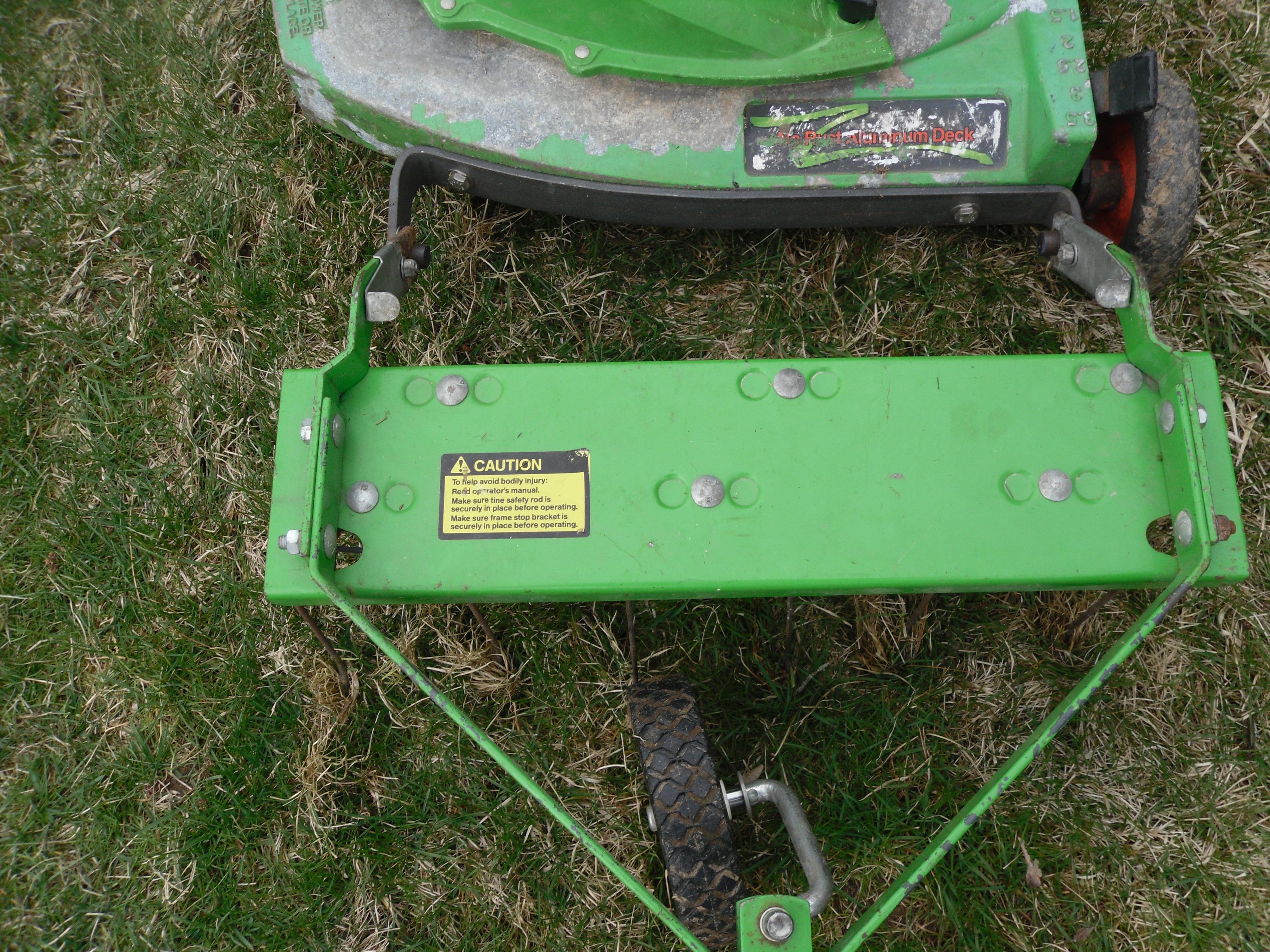 lawn boy 683621 dethatcher w custom brkt mytractorforumcom the