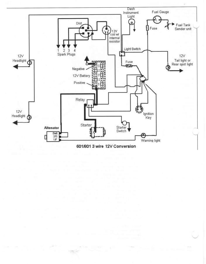 Ford 600 12 volt converison wiring diagram