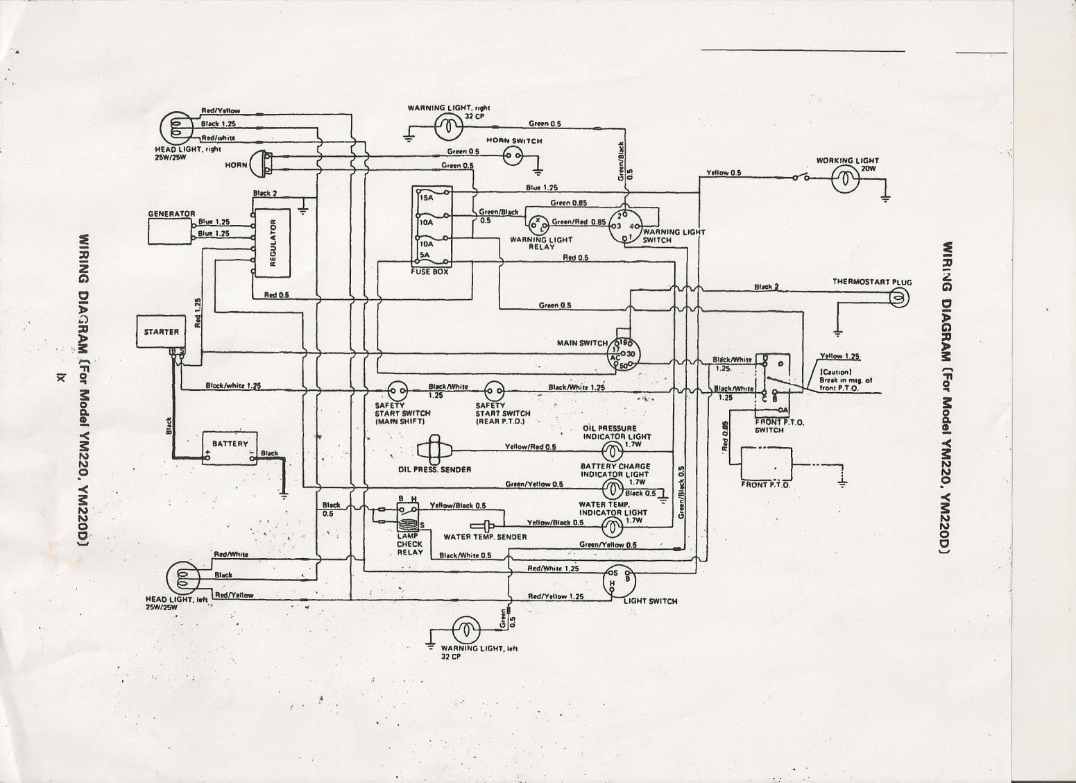 wiring diagram for yanmar 1401d wiring wiring diagrams wiring diagram for yanmar d a few issues yanmar 1510 mytractorforum com the