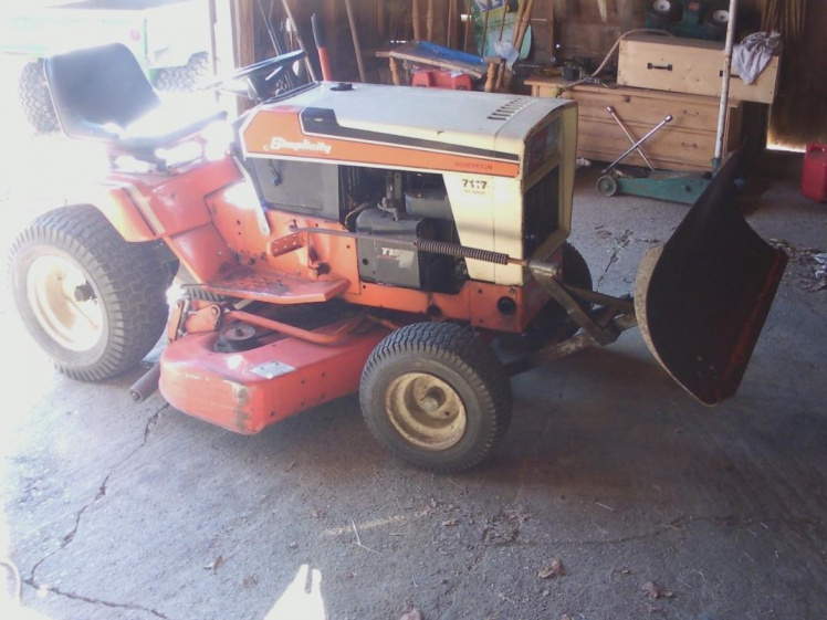 Simplicity 7117 help - MyTractorForum com - The Friendliest