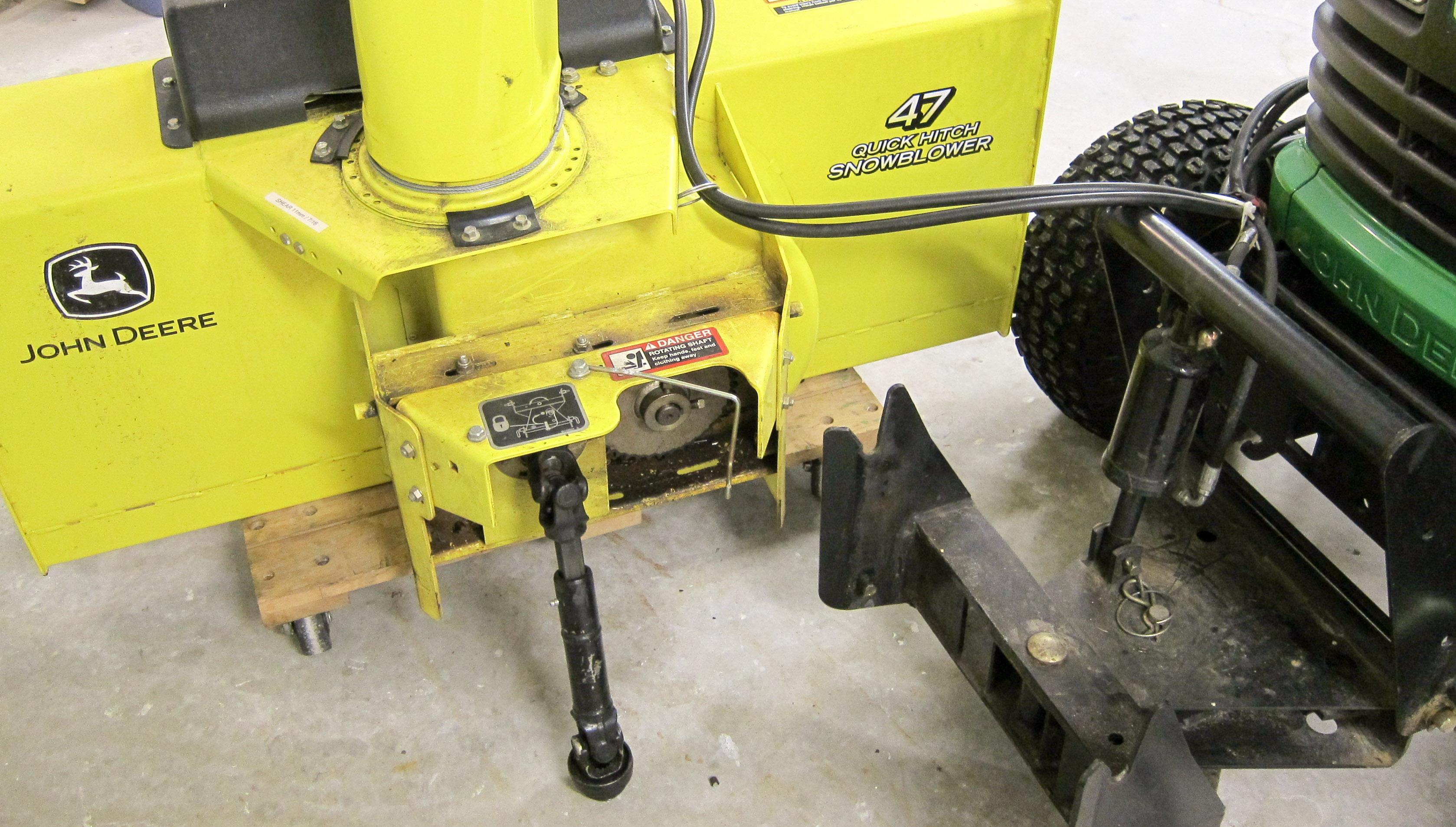 John Deere 47 inch snowblower manual