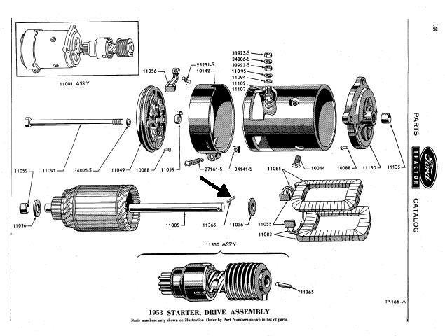 1950 Ford starter removal