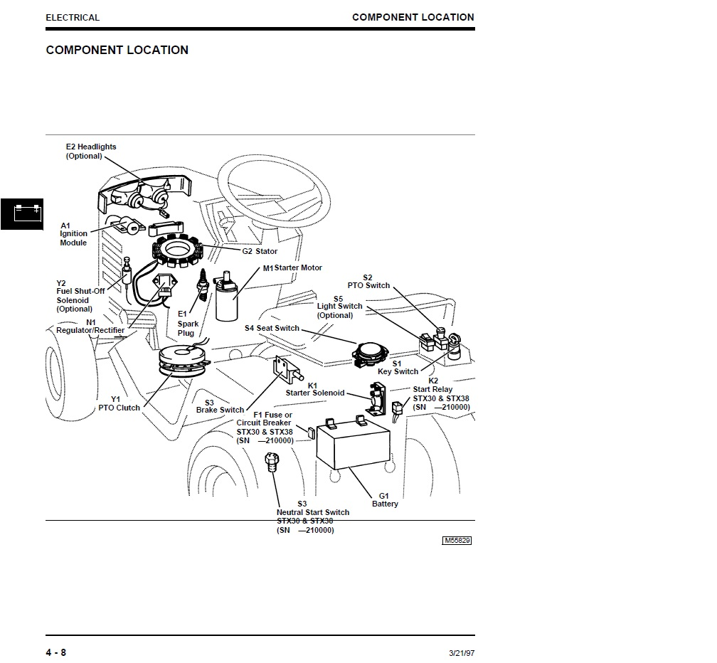 John Deere Stx38 Wiring Diagram Black Deck