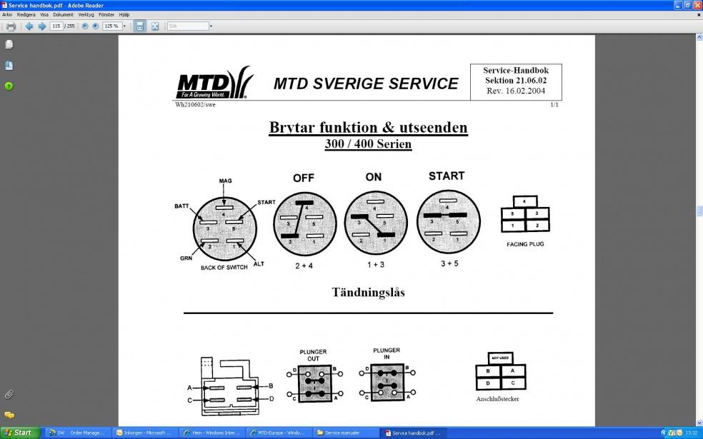 Mtd Products Mastercut 12  91 - Ingnition