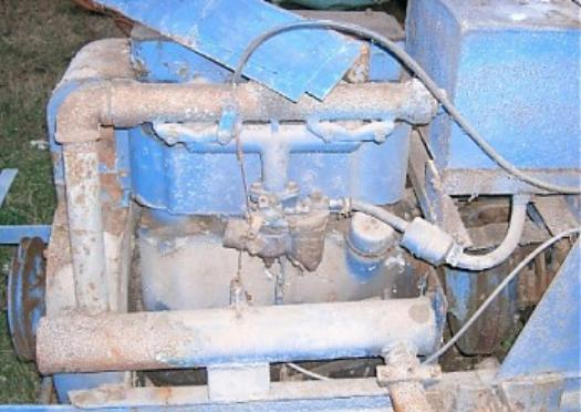 4cyl inline Wisconsin may get repaired  goofy homemade tractor/thing