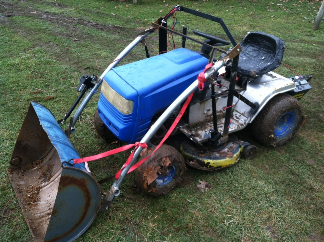 Mtd lawn tractor front end loader build MyTractorForumcom The