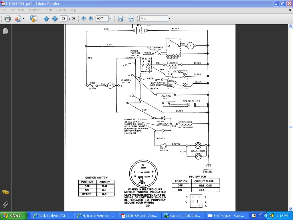 Gt6000 Electric Pto The Friendliest Tractor Wiring Diagram For Roper Lawn Mower Click Image Larger Version Name Wire Views 369 Size