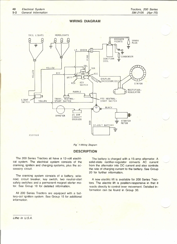 Can You Identify This Wire? | My Tractor Forum Jd Wiring Diagram on jd lt155 wiring-diagram, jd lx188 wiring-diagram, jd 265 lawn tractor diagram,