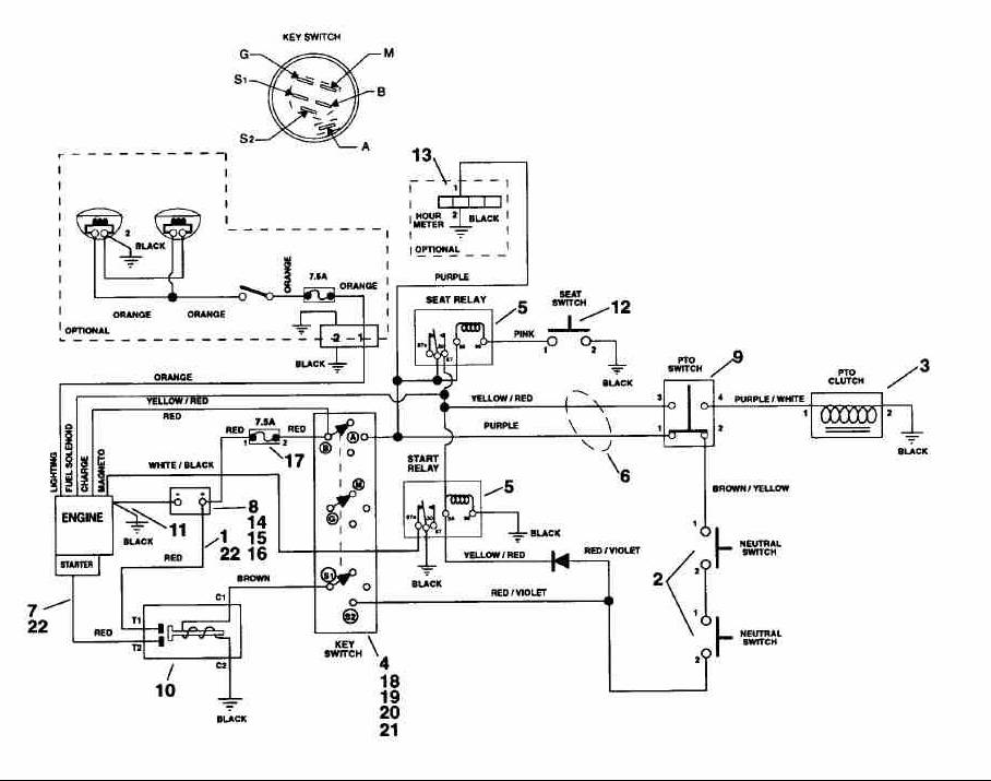 14 5hp Briggs And Stratton Wiring Diagram. Parts. Wiring