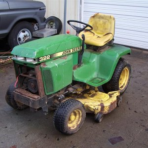 "John Deere 322 with 50"" deck  year: 1991"