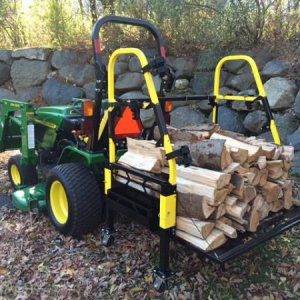 John Deere 2520 & The Bigtoolrack Helping Move Some Wood On My Property