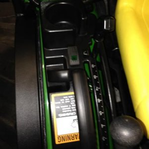 Remote Downspout Kit On A John Deere 2520 54 Inch Snowblower