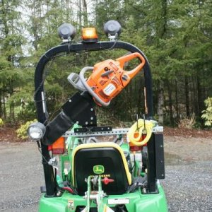 Jd 2305 With Chainsaw Mount
