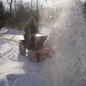Case 222 Snow Blowing